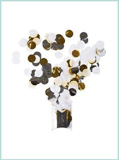 Jumbo konfetti metallic