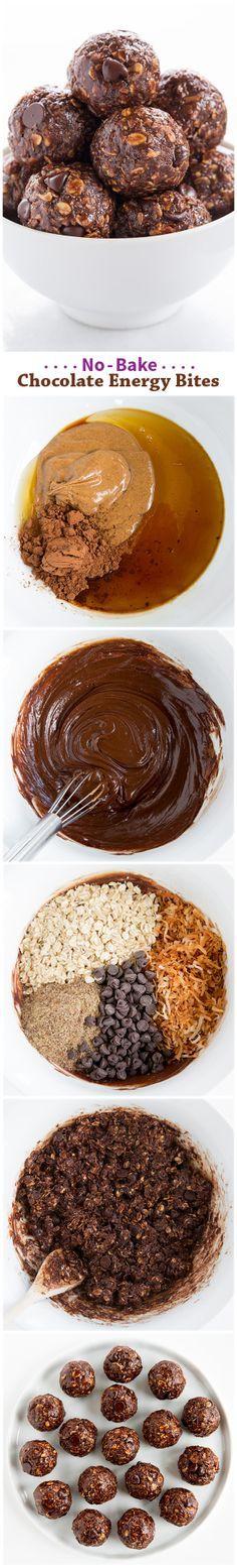 No Bake Chocolate Energy Bites