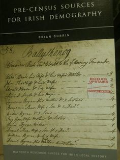 Good book on pre-1821 population sources that's useful for #Irish #genealogy from @Adi Missions local history