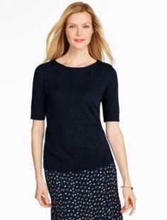 Elbow-Sleeve Sweater - Talbots