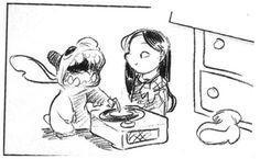 Lilo & Stitch storyboard by chris sanders