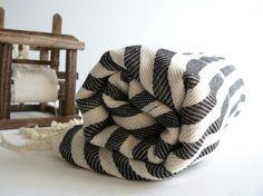 Turkish Bath Towel - Commagene Peshtemal - Soft Cotton - Black