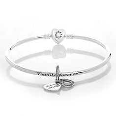 Pandora Silver Beloved Mother Complete Bangle CB536