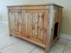 If your cat can't be toilet trained and you don't like all the litter boxes out, then do a DIY and make a hidden litter box station. Description from pinterest.com. I searched for this on bing.com/images                                                                                                                                                                                 More