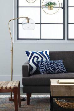 Glass Globe Floor Lamp - ELLEDecor.com