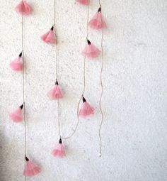 Pink blossom garland