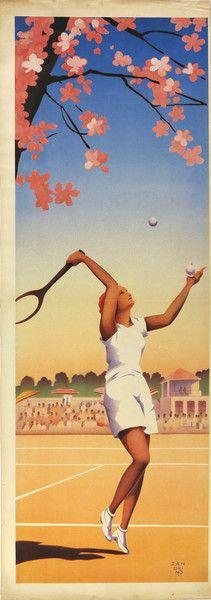 1930 Italy - Sport Poster Tennis First Serve #TuscanyAgriturismoGiratola