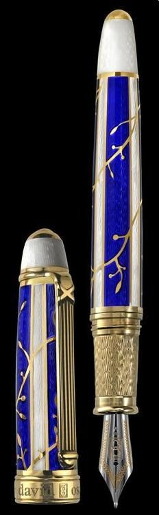 BLUE ENAMELED PEN