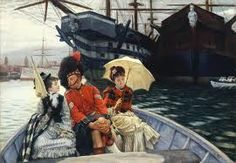 "James Tissot Portsmouth Dockyard This is a fine art giclee print featuring the classic French artwork painting of artist James Jacques Joseph Tissot entitled ""Portsmouth Dockyard"". Approximate date of this painting was Paul Cezanne, Portsmouth Dockyard, Portsmouth Harbour, Oil Canvas, Painting Prints, Art Prints, Art Paintings, Joseph, Art Ancien"