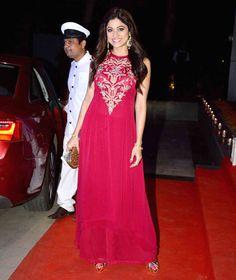 Shamita Shetty at Ashish Chowdhry's #Diwali bash. #Bollywood #Fashion #Style #Beauty #Hot