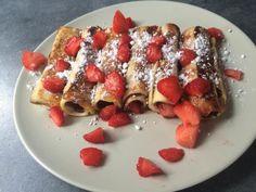 Breakfast roulés au Nutella et aux fraises