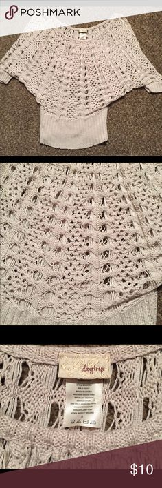 Daytrip crochet sweater Daytrip cream crochet sweater. Crochet detail all over the sweater. Perfect with any tank top underneath. Very cute fall/winter sweater. Daytrip Sweaters Crew & Scoop Necks