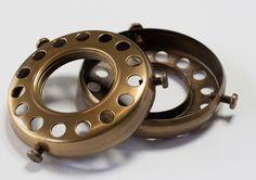 SHADE HOLDER: Brass UNO Shade Holder, Antique Brass Finish