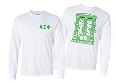 Alpha Epsilon Phi World Famous Crest Long Sleeve T-Shirt- $19!- MADE FAST!