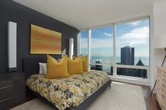 Incredible view from your one-bedroom at the top of the Trump Tower - simply stunning   Chicago, IL