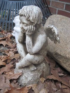 April 15 - The newest addition to my angel collection sits patiently, waiting to be positioned in our new garden. @bbsoulful2