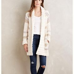 Sale!!! New! Gorgeous sweater from Anthropologie Heavy cardigan sweater from Anthropologie with absolutely beautiful colors!!! Size M/L. Anthropologie price was $398. The brand is Handknit by Dollie. Make an offer! 💖 Anthropologie Sweaters Cardigans