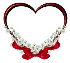 Transparent Red Heart Frame Decor PNG Clipart