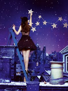 Who will put the stars in the night sky?  #makebelieve