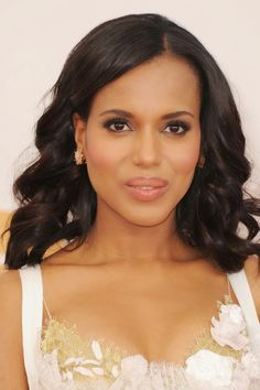 Best beauty looks at the 2013 Emmy Awards: Heidi Klum, Kerry Washington and Celebrity Hairstyles, Black Women Hairstyles, Cool Hairstyles, Relaxed Hairstyles, Elegant Hairstyles, Jessica Chastain, Wedding Hair And Makeup, Hair Makeup, Makeup Tips
