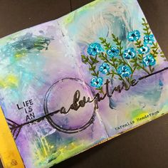 My Creative Endeavors: Unfinished Projects: Art Journal --- Wanderlust