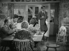 """The classic 1938 screwball comedy """"Bringing Up Baby"""" featured Cary Grant, Katharine Hepburn, a lost leopard, and a fabulous country house in Connecticut. Early American Decorating, Gentleman Movie, Best Classic Movies, Baby Movie, Vintage Architecture, Movies Worth Watching, Fantasy House, Bring Up, Katharine Hepburn"""