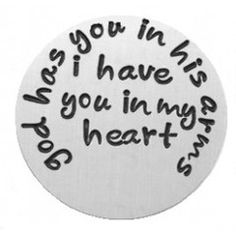 God Has You in His Arms Locket Plate
