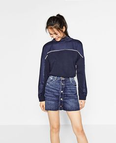 ZARA - WOMAN - TWO TONE TOP WITH HIGH NECK