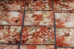 leaf monoprint process | Cassandra Tondro Green Art Blog