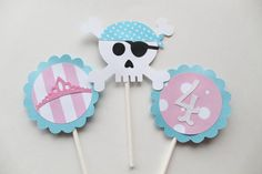 Princess Cupcake Toppers  Pirate Cupcake by PartyandHomeDesign, $12.00