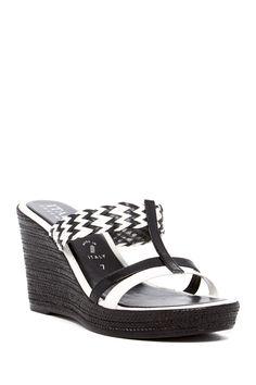 Aaron Platform Wedge Sandal by Italian Shoemakers on @nordstrom_rack