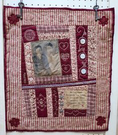 Two old friends remind each other that they rely on each other's memory to remember all of their past!  All hand-stitched/hand-quilted.  Check it out on my website!