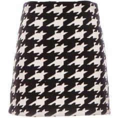 Alice + Olivia Elana Houndstooth Knit Mini Skirt found on Polyvore