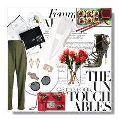 """""""get the look"""" by aleksslaa ❤ liked on Polyvore featuring Narciso Rodriguez, Gucci, Erdem, Marc by Marc Jacobs, Balenciaga, Yves Saint Laurent, LSA International and Tom Ford"""