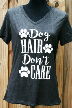 "#doggraphictop #dogshirts #graphictops Women's Trendy Graphic Top ""Donlt' Care Don't Care"" 
