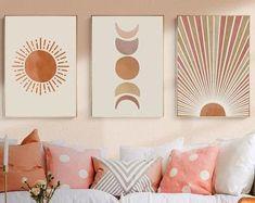 Canvas Frame, Canvas Wall Art, Wall Art Prints, Living Room Canvas Painting Ideas, Nursery Wall Art, Wall Art Decor, Graffiti Wall Art, Décor Boho, Wall Art Sets