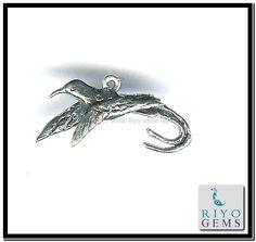 Plain Silver Charm Pendant Riyo Gems www.riyogems.com