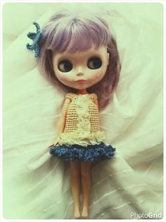 exclusive  crochet dress for Blythe   boot cover. by Blytheofmine
