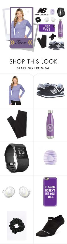 """""""Run the World in New Balance"""" by violinistkitty ❤ liked on Polyvore featuring Polaroid, New Balance, New Balance Classics, American Eagle Outfitters, Pier 1 Imports, Fitbit, Eos, Casetify and NewBalance"""