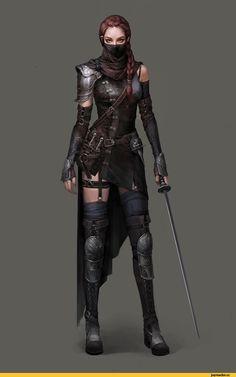 арт девушка,красивые картинки,арт,Fantasy,Fantasy art,Assassin,Si Woo Kim