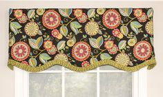 Festival Provance Valance | RLF Home Our Festival Provance Valance is a kaleidoscopic blending of pattern and color offset by perfectly coordinated ruffled trim. Featured in Taffy. Also available in Popcorn.