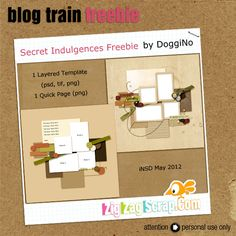 Templates freebie from DoggiNo #scrapbook #digiscrap #scrapbooking #digifree #scrap