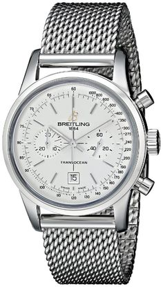 men watches: Men's watches store Breitling Men's A4131012-G757SS Analog Display Swiss Automatic Silver Watch