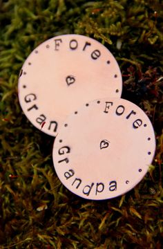 Grandpa Gift TWO Golf Ball Marker by whiteliliedesigns on Etsy, $29.50
