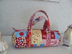 Sac polochon thème couture doublé toile ecrue : Autres sacs par danetgeo