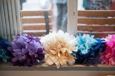 Multicoloured Pom Pom Lido Cafe Wedding http://fionasweddingphotography.co.uk/
