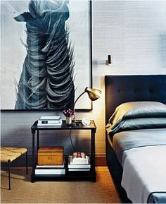 Just love the masculinity of this room......