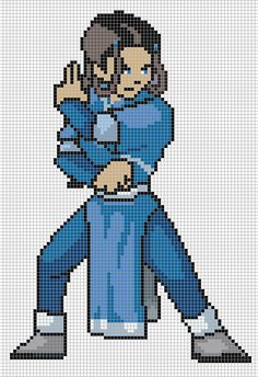 Katara Avatar Pixel Art Templates Free Download for PC, Handled Device or Mobile brought to you by PixelArtTemplates.com