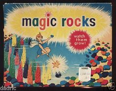 1960s Magic Rocks - we bought these in a gift shop on vacation (along with the live sea monkeys.)