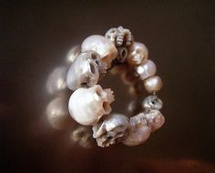Unique Skull Jewelry Carved From Actual Pearls Is Badass Creepy -  #handcraft #jewelry #pearls #skull #unique